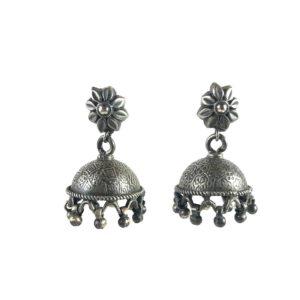 jhumki sterling silver earrings
