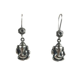 ganesh sterling silver earrings from religious silver jewellery, , lord ganesha is for good luck