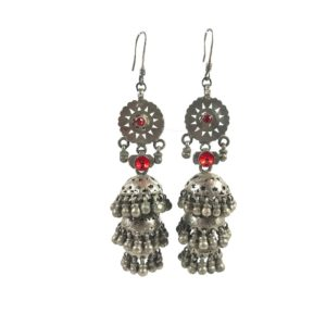 indian tribal vintage silver earrings jhumki jhumka earrings