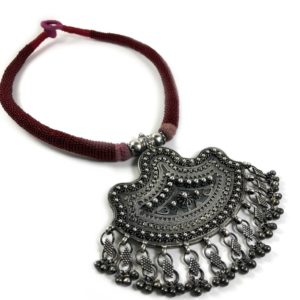 rava work sterling silver necklace with large pendant jewelry from sterling silver jewellery collection