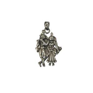 radha krishna sterling silver pendant for men & women