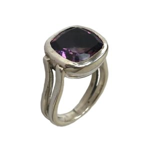 cushion cut amethyst sterling silver ring from gemstone set sterling silver jewellery jewelry