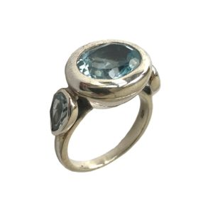 blue topaz sterling silver ring from silver jewellery jewelry for men & women