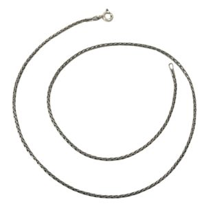 thin sterling silver chain, fox chain from silver jewellery for men & women