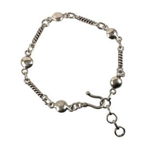 trendy ladies silver chain bracelet for women in pure 925 sterling silver jewellery