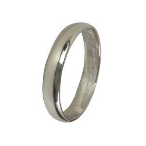 thin silver band ring in pure 925 sterling silver