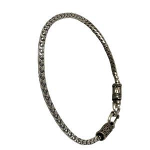 silver snake chain bracelet for men & women in pure 925 sterling silver